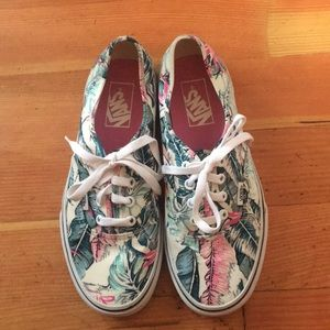 Vans Tropical Print Sneakers Women's Size 7.5
